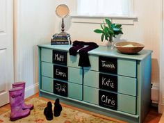 How to Turn an Old Dresser Into Mudroom Storage | DIYNetwork.com