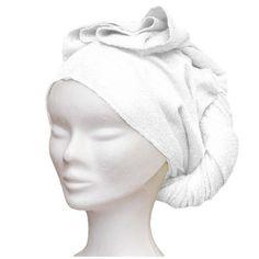 Serviette cheveux - bambou ultra absorbant - écru