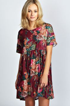 Toni Tapestry Smock Dress...I have one just like this but w/ a black background pink and yellow and blue and other colored florals...I luv it!!