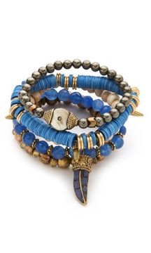 ShopStyle.com: Lacey ryan Feeling Blue Bracelet Set $210.00