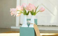 Soda Bottle Vases DIY — Leaf