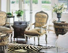 The chairs accent pieces  French Laundry: The French Inspired Home