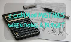 Struggling to make your budget work? Maybe you're doing these mistakes. #budgeting #personalfinance #savingmoney