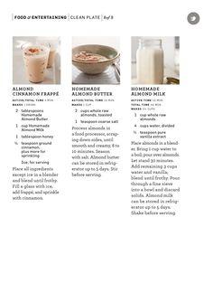 Homemade almond butter and almond milk