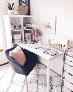 Tumblr Zimmer, Bedroom Inspo, Teen Bedroom, Home Bedroom, Bedrooms, Cute Room Ideas, Quartos Tumblr, Pinterest Home, Home Office Design