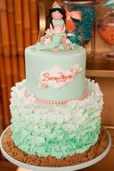 Mermaid under the sea ocean themed girl party cake