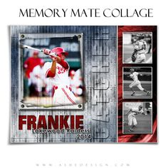 Use our new Riveted Memory Mate Collage Templates with all of your sports images. These Memory Mate designs will work for any sport. Each Photoshop file can be completely customized with school or team colors. We offer a complete line of creative sports designs for everyone.