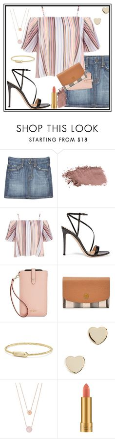 """""""pipe stripes   thegirloverthere"""" by thegirloverthere on Polyvore featuring Citizens of Humanity, Gianvito Rossi, Kate Spade, FOSSIL, David Yurman, Shashi, Michael Kors and MAC Cosmetics"""