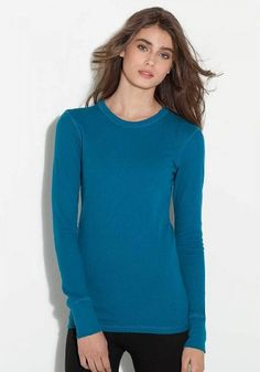 Bella Ladies Irene Long-Sleeve Thermal T-Shirt. B8500 for only $8.44 You save: $33.74 (80%) + Free Shipping