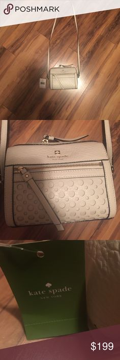 Kate Spade Purse Kate Spade. Cross body style. This is an extra small purse. New with tags. Cream. kate spade Bags Crossbody Bags