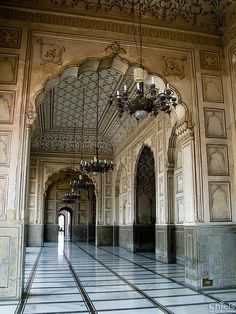 Mosque entrance in Lahore, Pakistan.