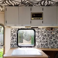 "1,052 Likes, 80 Comments - Liz Kamarul (@liz_kamarul) on Instagram: ""Real progress is being made here in the #winnebago. Just installed the @hyggeandwest wallpaper all…"""