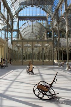SPLENDIDE HOTEL by Dominique Gonzalez-Foerster at the Palacio de Cristal in Madrid /// More on Interiorator.com