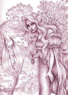 mermaidsketch.jpg (604×837)