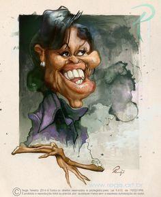 Michelle Obama por Regis Teixeira