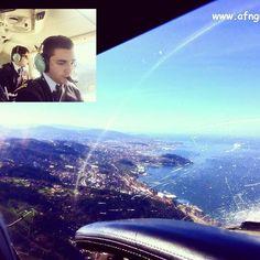 #vuelo Vigo Coruña con Marcos. ✈️✈️✈️ #pilotlife  Saludos desde el aire.
