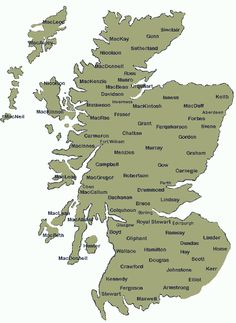 Scotland Clans History | Clan Map of Scotland