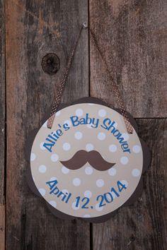 Mustache Door Sign Baby Shower