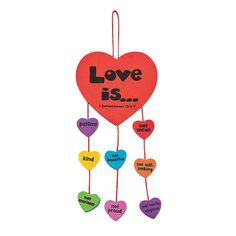 Faith Love Is Mobile with Corinthians 13:4-7. Great valentines craft for kids in Sunday School.