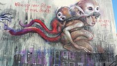 Might be part of th hr giant story book project by Herakut. In San Francisco on the wall behind the Flax parking lot.