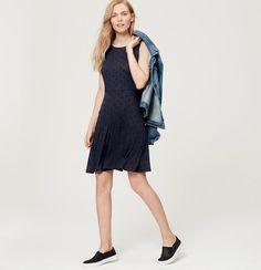 Dotted Knit Dress   Loft