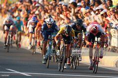 Alexander Kristoff (r) of Norway and Team Katusha beats Mark Cavendish of Great Britain and Dimension Data to the finishline on stage five of the 2016 Tour of Qatar, a 114.5km road stage from Sealine Beach Resort to Doha Corniche, on February 12, 2016 in Doha, Qatar #TOQ2016 #rm_112
