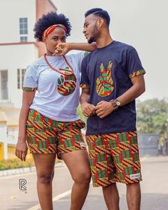 Beautiful Ankara Couples Styles We all love those beautiful and cute couples with matching attires and most especially Ankara. Couples African Outfits, African Dresses For Kids, African Clothing For Men, African Shirts, African Attire, African Wear, African Fashion Ankara, Latest African Fashion Dresses, African Print Fashion