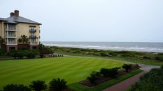 The Sanctuary on Kiawah Island certainly lives up to its name! Cocktails on its great lawn are an added bonus!