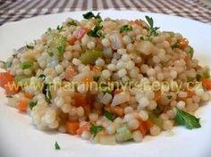 Zeleninová tarhoňa Raw Food Recipes, Healthy Recipes, Fried Rice, Tofu, Vegetarian, Pasta, Vegetables, Cooking, Ethnic Recipes