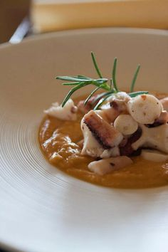 Octopus with chickpeas-- yes, please.