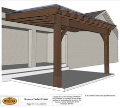 Plan for an easy DIY attached pergola with a ShadeScape™ that can be installed in as little as one afternoon; built with old world craftsmanship, dovetailed without the use of nails or glue. #pergolaplans