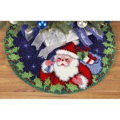 Santa Tree Skirt Latch Hook Kit