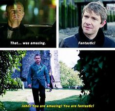 Sherlock got his idea of how to be nice to people from John!! I'm gonna just go cry now:'(