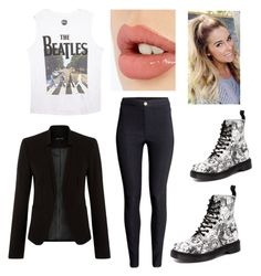 """""""Rebel Black"""" by poptartqueen24 ❤ liked on Polyvore featuring Wet Seal, H&M, Dr. Martens and Charlotte Tilbury"""