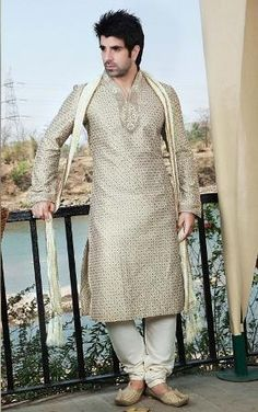 Grey Kurta Stylish Men