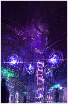 Sci-Fi City by Juan Pa Roldán