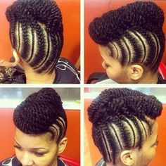 Flat Braids n2 Twists Style
