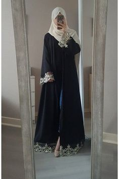 Abaya chic : Top 50 modèles tendance été 2017 - astuces hijab - Tesettür Şalvar Modelleri 2020 - Tesettür Modelleri ve Modası 2019 ve 2020 Abaya Style, Abaya Chic, Hijab Style Dress, Hijab Chic, Hijab Abaya, Muslim Women Fashion, Islamic Fashion, Estilo Abaya, Mode Abaya