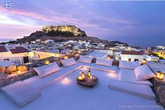 Special roof at Lindos Rhodes - Greece