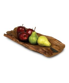 This Enrico 16'' Driftwood Platter is perfect! #zulilyfinds