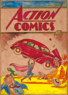 Original Action Comics #1 Cover Color Art Goes To Auction