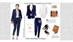 UMTA Look con traje azul marino chic style.