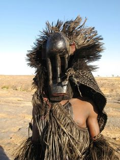 Dogon singe black monkey mask | Mali, Africa  {Google Search}