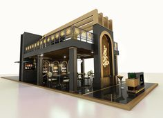 Exhibition Stand @ Book Fair Sharjah 2015 - Famous Last Words Building Front, Front Elevation Designs, Cafe Concept, Architectural House Plans, Pharmacy Design, Kiosk Design, Cafe Interior Design, Exhibition Stand Design, Tiny House Cabin