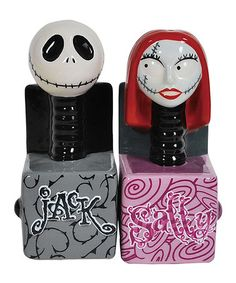 Another great find on #zulily! Jack & Sally in the Box Salt & Pepper Shakers #zulilyfinds