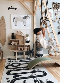Top 10 Kids Room Decor Ideas With Wooden Elements. Wood is not very beautiful, b. - Top 10 Kids Room Decor Ideas With Wooden Elements. Wood is not very beautiful, but safe and healthy - Playroom Decor, Kids Decor, Nursery Decor, Playroom Ideas, Decor Ideas, Childrens Bedroom Ideas, Nursery Office, Childrens Beds, Diy Decoration
