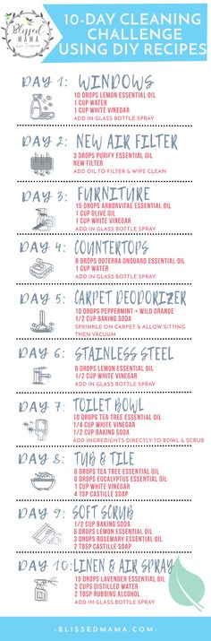 10 Homemade Cleaning Recipes