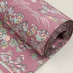 Purple tanmono cloth / 細かな草花や風景柄を施した化繊素材の着尺地反物 http://www.rakuten.co.jp/aiyama #Kimono #Japan #aiyamamotoya