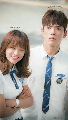 a pretty typical school romance kdrama. if you're younger in age and new to kdramas, i would recommend it. Kim Joong Hyun, Jung Hyun, Kim Sejeong, Kim Jung, School2017 Kdrama, Kdrama Memes, My Shy Boss, Celebrity Halloween Costumes, Becoming A Father