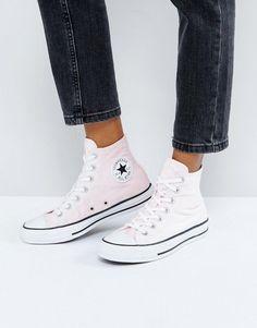 e24d854f3d10 Converse Chuck Taylor All Star Velvet Hi Top Sneakers In Pink